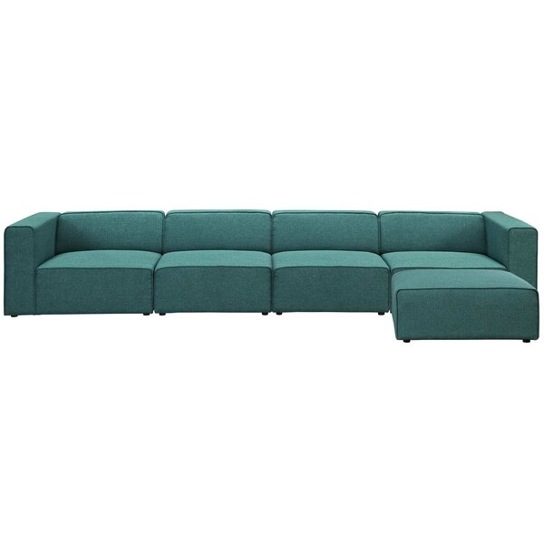 Chaudhry Right Hand Facing Sectional With Ottoman By Brayden Studio