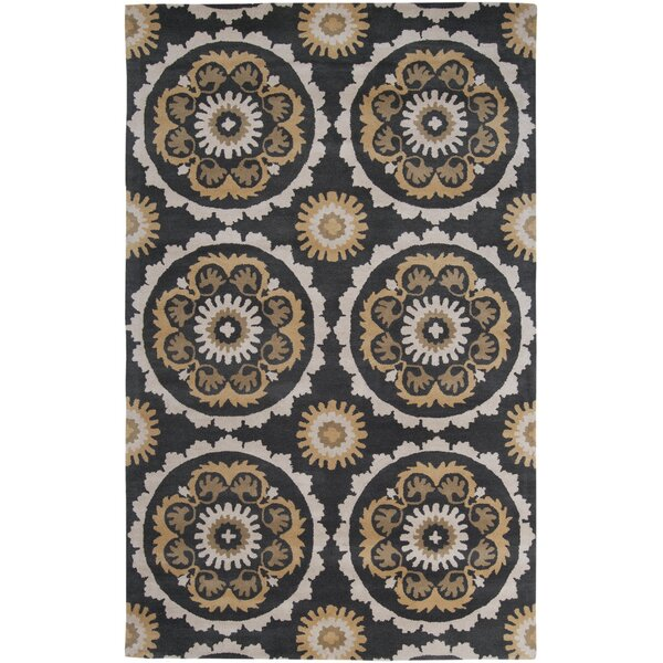 Mosaic Charcoal/Butter Area Rug by B. Smith Rugs