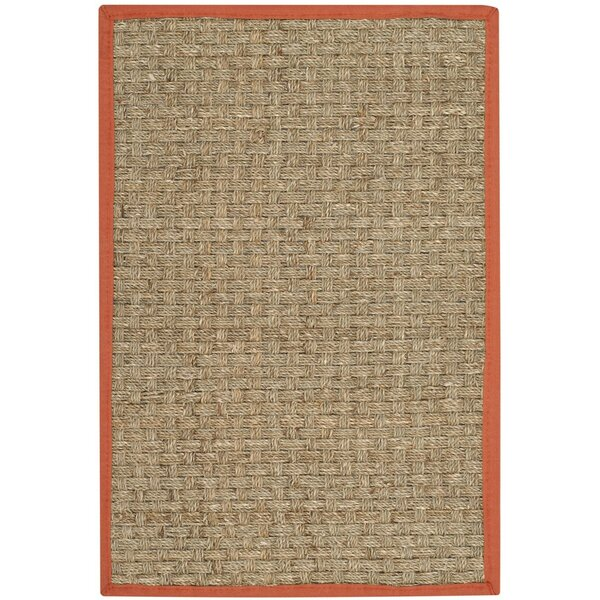Morrisville Natural/Rust Area Rug by Bay Isle Home