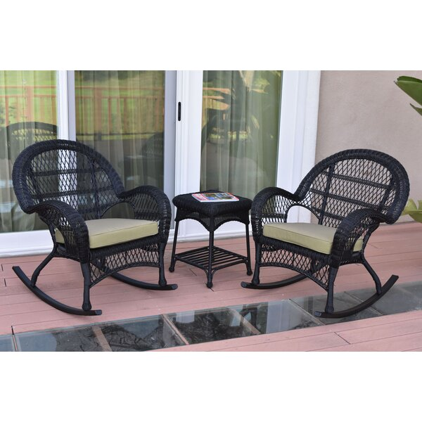 Mangum 3 Piece Rattan Seating Group with Cushions August Grove AGRV2757