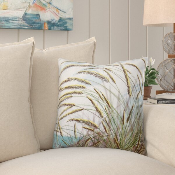 Rocio Ocean Breeze Floral Print Throw Pillow by Beachcrest Home