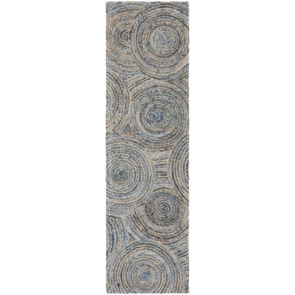 Abhay Hand Woven Gray/Blue Area Rug by Bungalow Rose