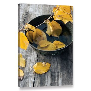 Autumn Leaves Photographic Print on Wrapped Canvas by August Grove