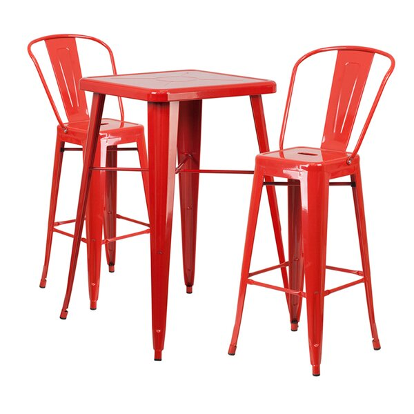 Jesse 3 Piece Bar Height Dining Set by Trent Austin Design