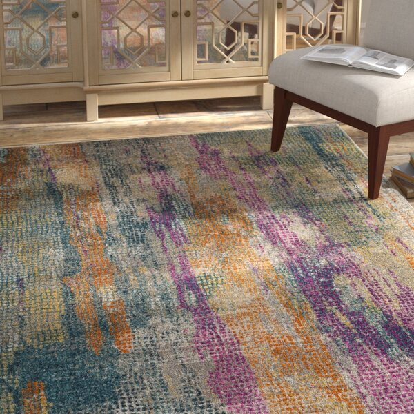 Esparza Contemporary Blue/Pink Area Rug by Bungalow Rose