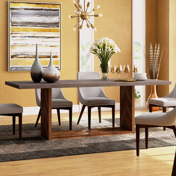 Dickman Mixed Dining Table by Brayden Studio