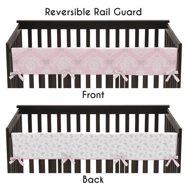 Alexa Long Crib Rail Guard Cover by Sweet Jojo Designs