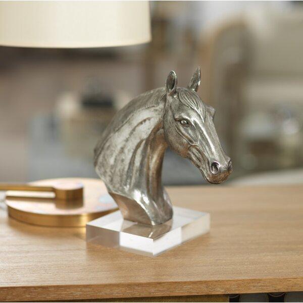 Arian 10.5-inch Tall Horse Head Sculpture by Zodax