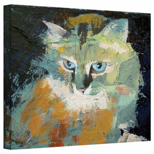 Himalayan Cat Painting Print on Wrapped Canvas by Andover Mills