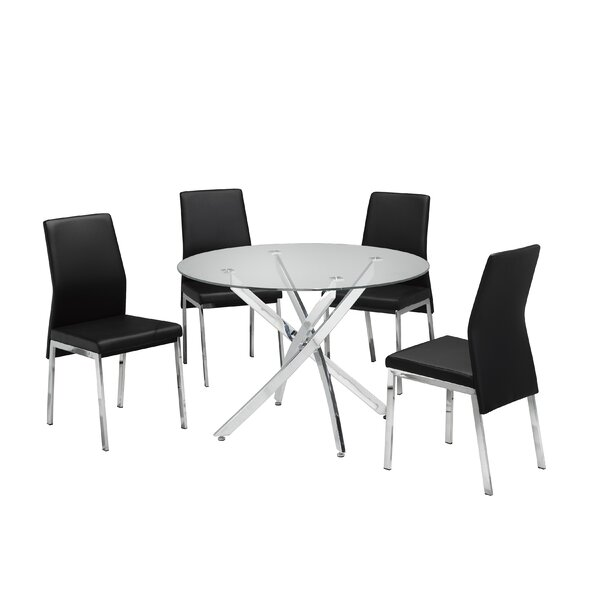 Meredith 5 Piece Dining Set by Brassex