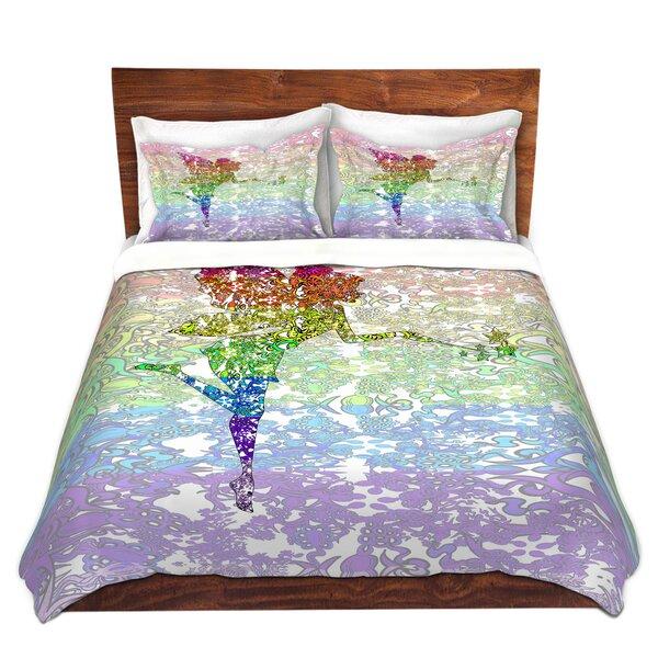 Epsom Susie Kunzelman Fairy Dance Rainbow Microfiber Duvet Covers by Zoomie Kids