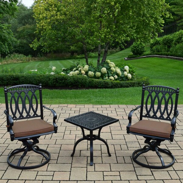 Lostant 3 Piece Sunbrella Conversation Set with Cushions by Alcott Hill