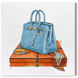 'My Bag Collection III' Painting Print on Canvas by Oliver Gal