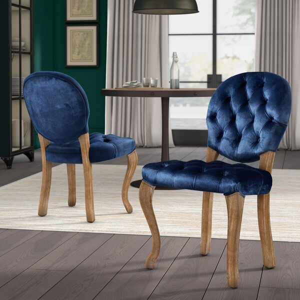 Meiners Velvet Upholstered Dining Chair (Set of 2) by Greyleigh