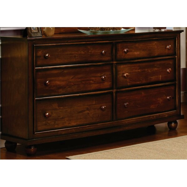 Kiger Shutter 6 Drawer Double Dresser by Bayou Breeze