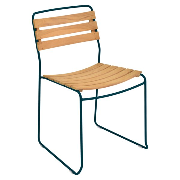 Surprising Stacking Teak Patio Dining Chair (Set Of 2) By Fermob