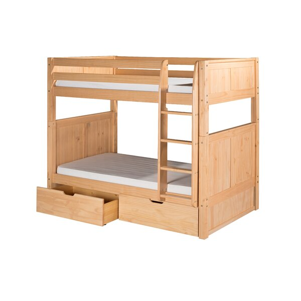 Oakwood Natural Twin Wood Bunk Bed with Storage by Harriet Bee