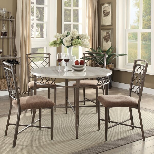 Bedfordshire 5 Piece Dining Set by Charlton Home