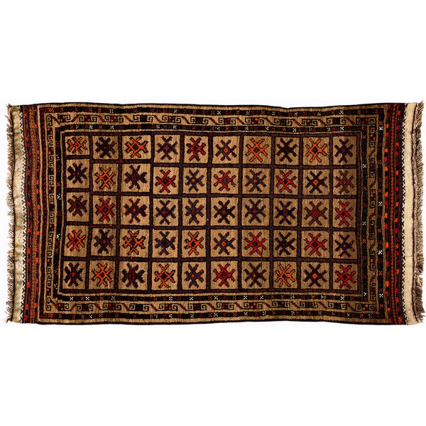 One-of-a-Kind Tribal Hand-Knotted Brown Area Rug by Darya Rugs