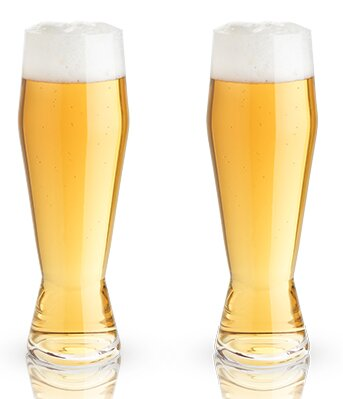 Raye™ Crystal 24 oz. Weizen Glass (Set of 2) by Viski