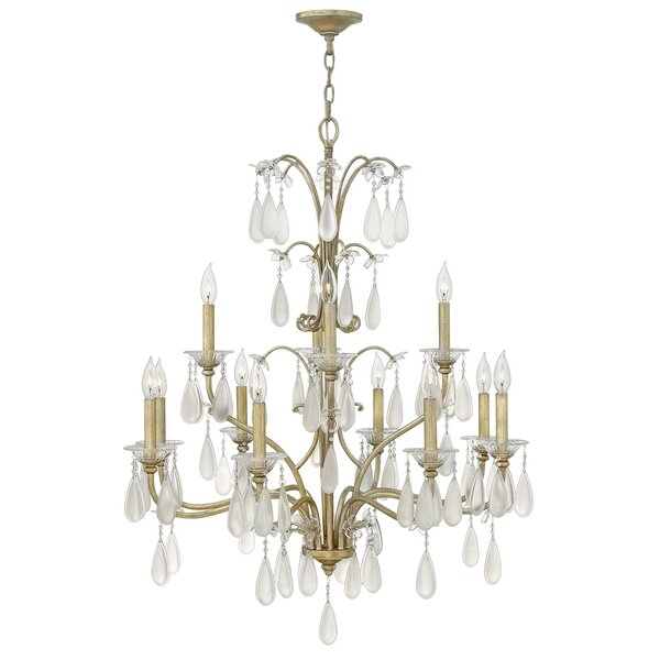 Bartholdi 12-Light Candle Style Tiered Chandelier By Rosdorf Park