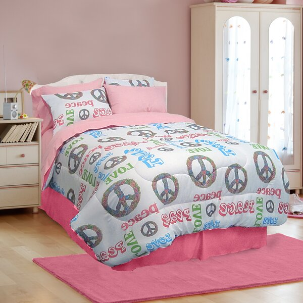 Peace and Love 4 Piece Comforter Set by Veratex, Inc.