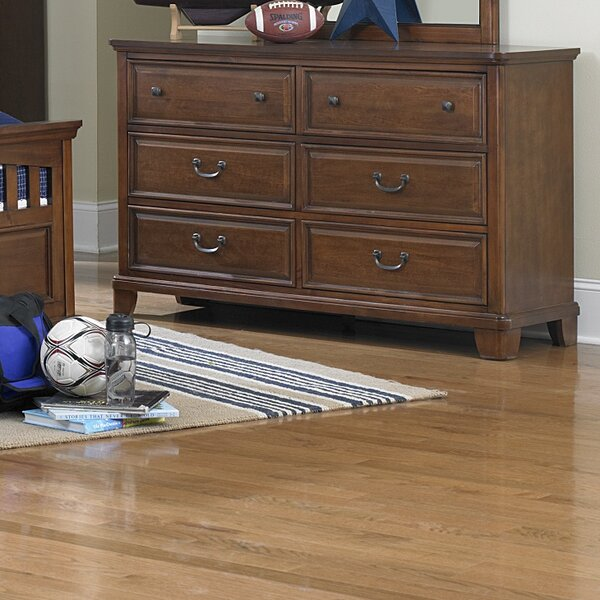 Clarktown 6 Drawer Double Dresser With Mirror by Darby Home Co