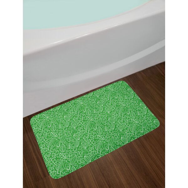 Doodle Style Green Bath Rug by East Urban Home