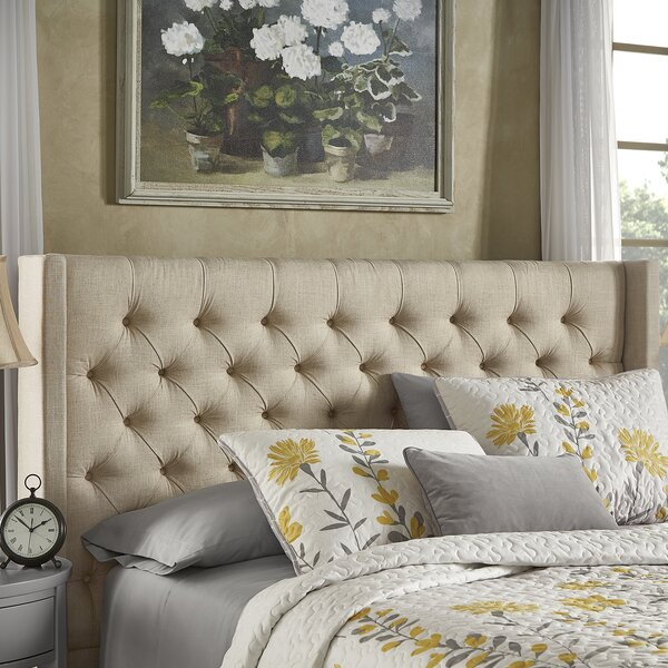 Crawley Upholstered Wingback Headboard by Three Posts
