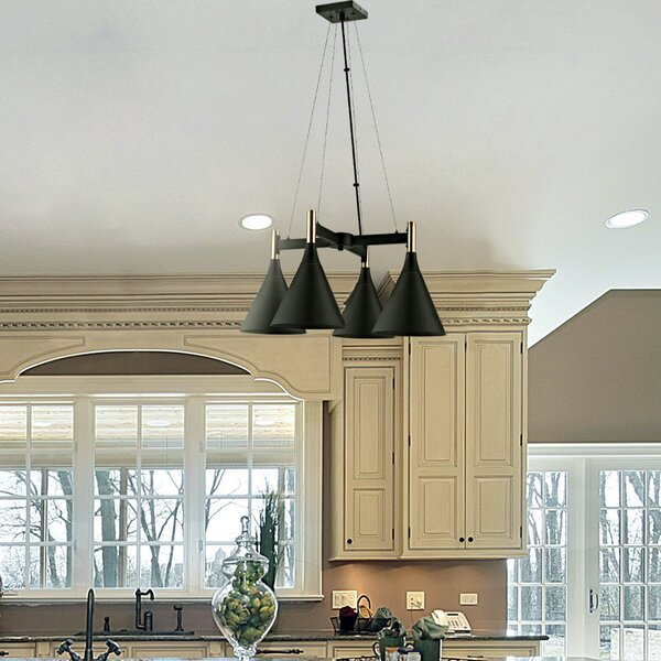 Tennie 4 - Light Shaded Classic / Traditional Chandelier By Ivy Bronx
