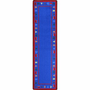 Online Reviews Scattered Books Blue Area Rug ByJoy Carpets