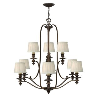 Dunhill 9-Light Shaded Chandelier By Hinkley Lighting