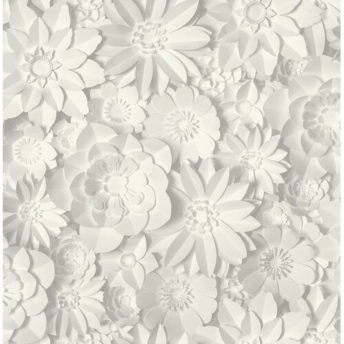 Dimensions Floral 10.05m x 53cm Wallpaper Roll East Urban Home