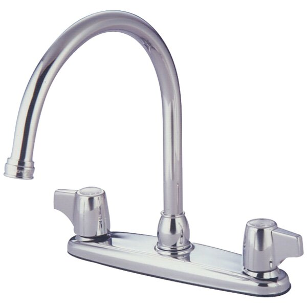 Vista Centerset Double Handle Kitchen Faucet by Kingston Brass