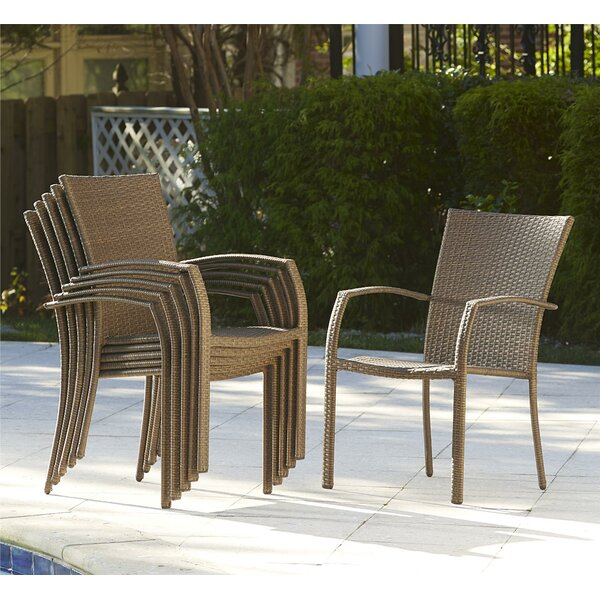 Bargain Edwards Stacking Patio Dining Chair With Cushion (Set Of 6) By Highland Dunes Cool