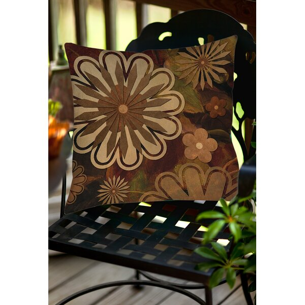 Floral Abstract I Indoor/Outdoor Throw Pillow by Manual Woodworkers & Weavers