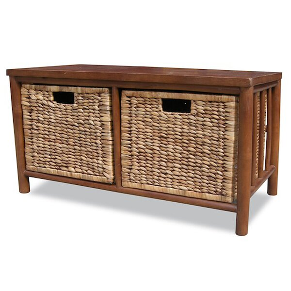 Annapolis Bamboo Storage Bench by Bay Isle Home