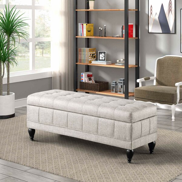 Adaline Upholstered Flip Top Storage Bench