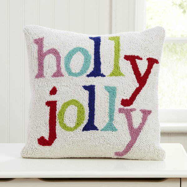 Holly Jolly Hooked Pillow by Birch Lane Kids™