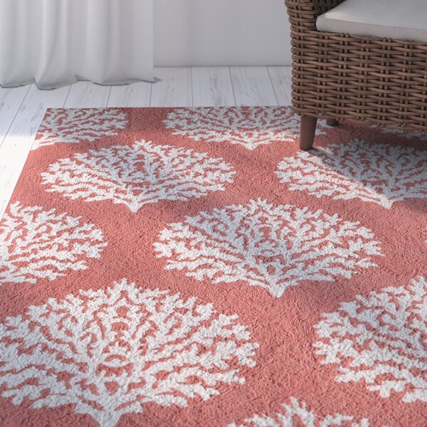 Cline Coral Area Rug by Highland Dunes