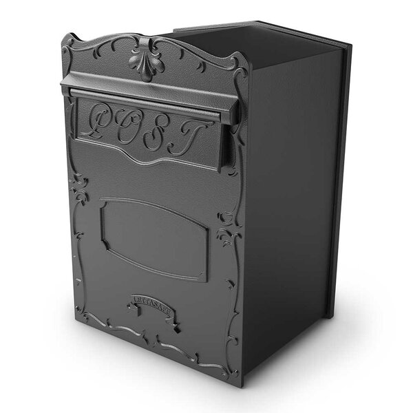 Kingsbury Rear Retrieval Locking Wall Mounted Mailbox by Qualarc