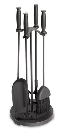 Barrel Handle Stove 5 Piece Iron Fireplace Tool Set by Pilgrim Hearth