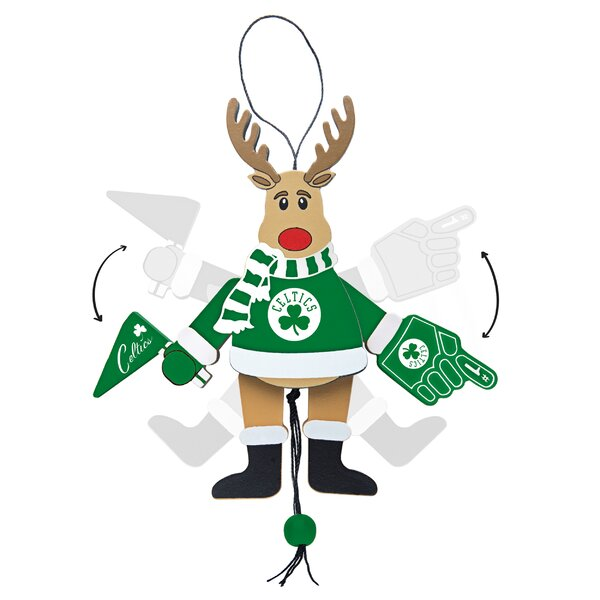 NBA Wooden Cheering Reindeer Ornament by Topperscot