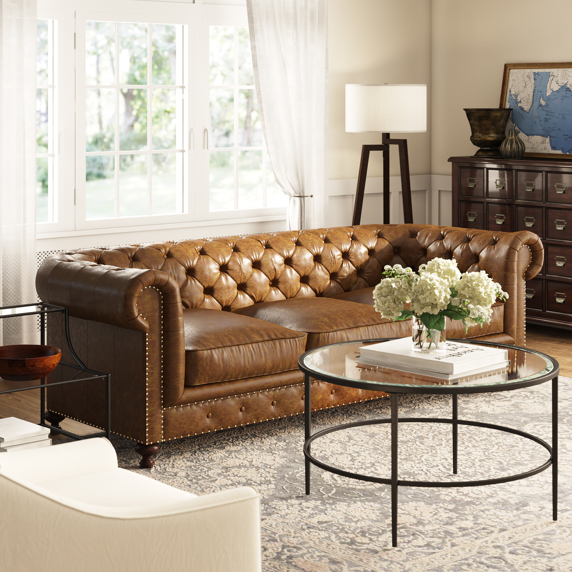 Enjoyable Julesburg Leather Chesterfield Sofa Creativecarmelina Interior Chair Design Creativecarmelinacom