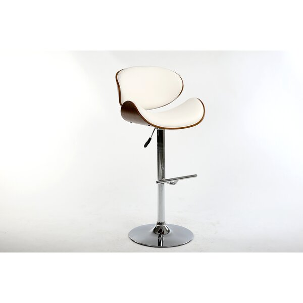 Hailey Adjustable Height Swivel Bar Stool by Bromi Design