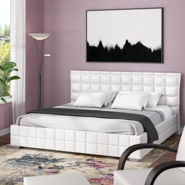 Bianca Queen Upholstered Platform Bed by Wade Logan