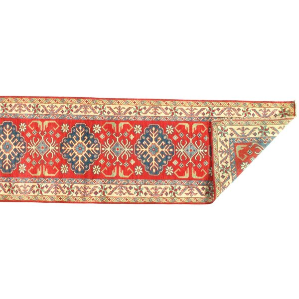 Kazak Design Hand Knotted Wool Rust Area Rug