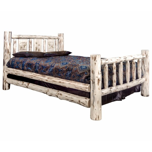 Antigo Laser Engraved Bear Standard Bed by Millwood Pines