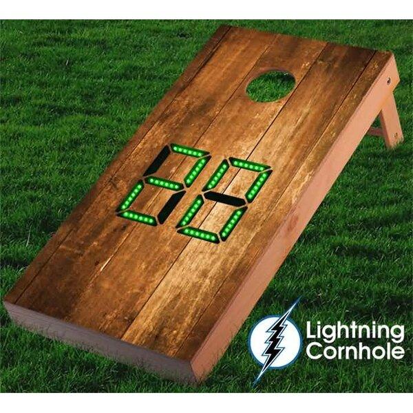 Electronic Scoring Stained Wood Cornhole Board by Lightning Cornhole