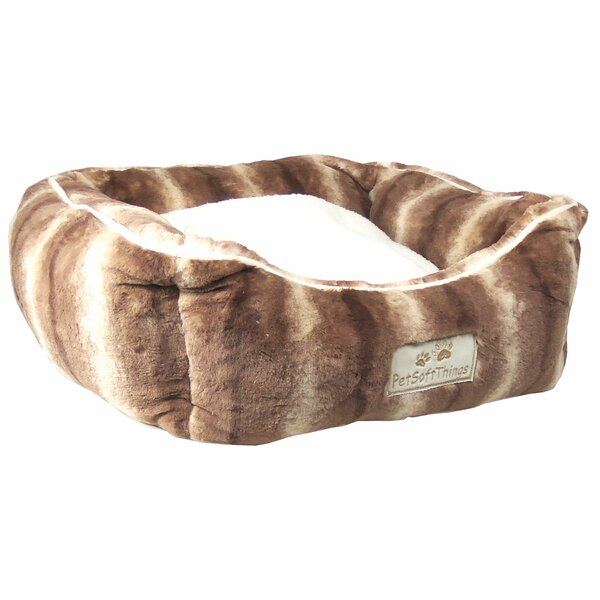 Dog Bed with 2 Removable Pillows by Pet Soft Things
